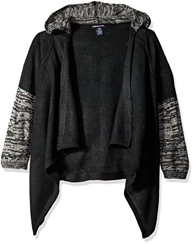 Limited Too Little Girls' 2 Tone Cardigan Sweater, 2302 Black, 6X