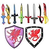 Best Foam Swords - Pack of 10 Assorted Foam Sword and Shield Review