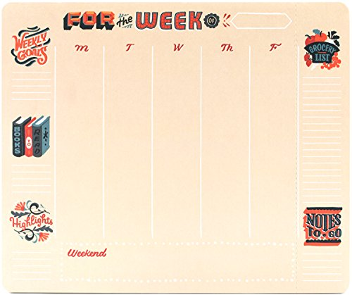 High Note 2018 Weekly To-Do with Notes-To-Go Weekly To-do Pad (w/Magnet): Handy Non-Dated Weekly Tear Off Sheets Featuring Unique, Original, Designer Art by Jill De Haan (CHT0312)
