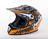 quad helmets for youth - Cyclone ATV MX Dirt Bike Off-Road Helmet DOT/ECE Approved - Orange - Youth Small