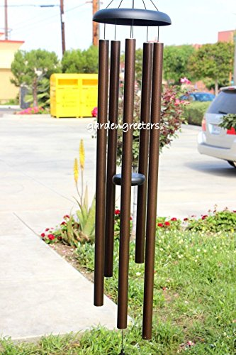 LARGE 60'' WINDCHIME LARGE 60'' WIND CHIME BROWN by Gardengreetersllc