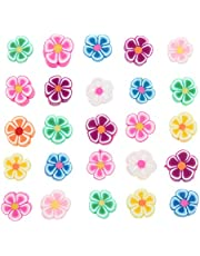 100pcs Mixed Polymer Clay Spacer Beads for Women Girls Jewelry Making DIY Bracelet Necklace Hair Clip Accessories
