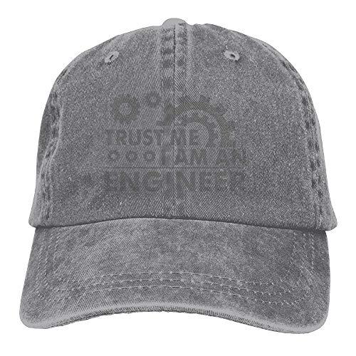 Trust Me I M an Engineer Denim Hat Adjustable Men Low Baseball Hats AshOne Size ()