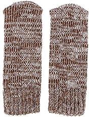 VOSAREA Stoelsokken, antislip, elastisch, gebreid, voor meubels, sokken, stoelpootbeschermers, afdekking, set, bruin, 12 stuks