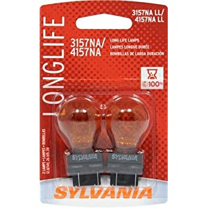 SYLVANIA 3157NA/4157NA Long Life Miniature Bulb, (Contains 2 Bulbs)