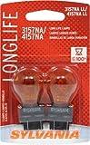 SYLVANIA 3157NA/4157NA Long Life Miniature Bulb, (Pack of 2)
