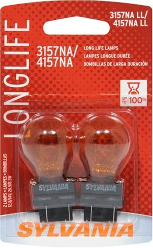- SYLVANIA - 3157NA Long Life Miniature - Amber Bulb, Ideal for Parking, Side Marker and Turn Signal Applications. (Contains 2 Bulbs)