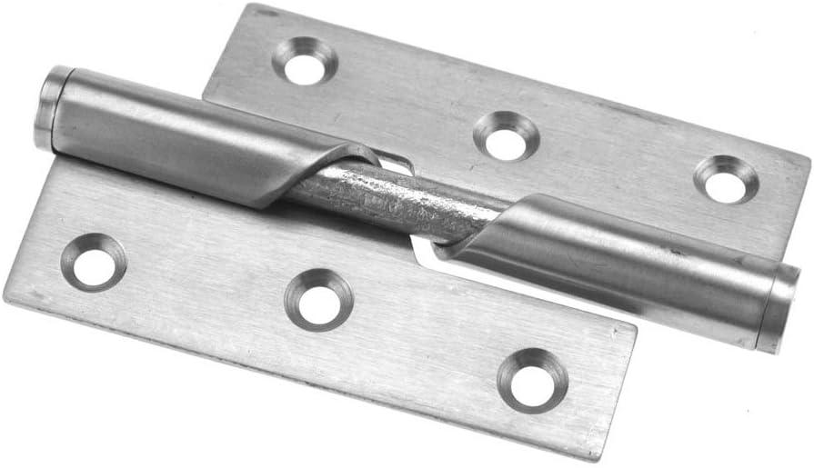 2/St/ück 7,6/cm // 10,2/cm T/ürscharniere mit Hebefunktion Edelstahl Right 3 Anschlag rechts oder links