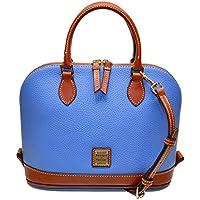 Dooney & Bourke Pebble Zip Zip Satchel (Azure) + Free Lancaster Perle Blue Napkin
