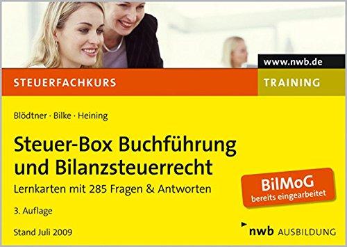 Steuer-Box Buchführung und Bilanzsteuerrecht: Lernkarten mit 285 Fragen & Antworten. (NWB-Steuerfachkurs - Trainingsprogramm)