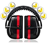 Ear Protection for Shooting Hearing Protector Muffs   Maximum Noise Cancelling Headphones for Mowing Kids Gun Range Soundproof   Bonus 6 Pair of Best Safety Ear Plugs by EarMuffs Armor Baby Toddler