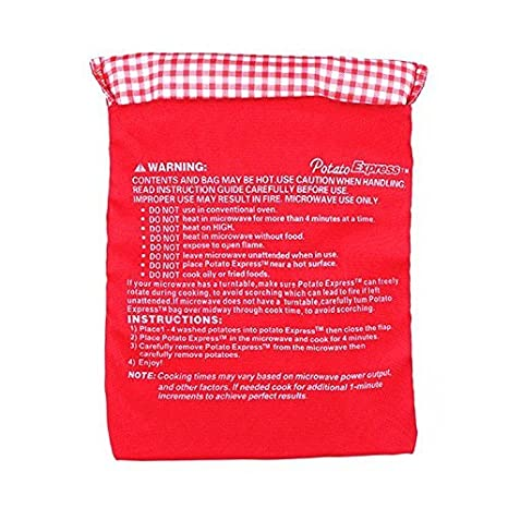 2 unids de bolsa de coccion de patatas para microondas: Amazon.es ...