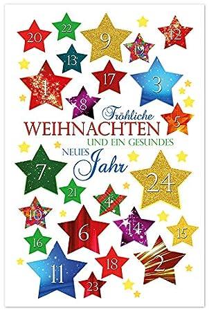 Hochwertige Weihnachtskarten.10 Weihnachtskarten Adventskalender Hochwertige Grußkarten Karte Hülle 220 4862