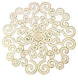 38'' Large White Scroll Wall Medallion | Round Art Metal Iron Swirl
