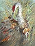 Cheap Caroline's Treasures JMK1143GF Sandhill Crane with Baby Flag, Small, Multicolor