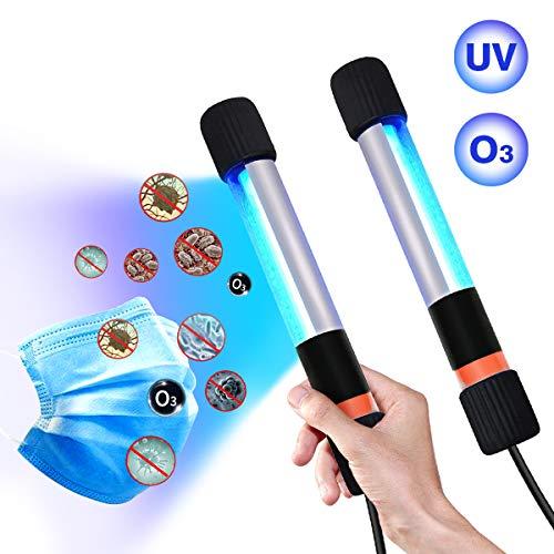 Lámpara de esterilización UV, [2 piezas] Portátil de Mano Lámpara de Desinfección con ozono, del Recorrido del Hogar De La Lámpara Germicida Ultravioleta,Rápida y Eficiente Pequeña Lámpara UV (9)