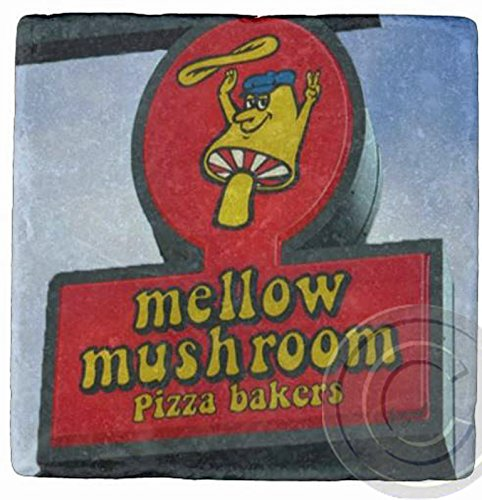 Mellow Mushroom, Atlanta Marble Stone Coaster.Mix and Match To Make A Set.