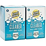 Lemi Shine Natural Dishwasher Cleaner Powered by Citric Extracts - 4 Count 2 Pk Bundle - 8 uses total