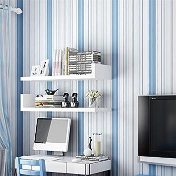 Hzfmediterrane Blau Gestreiften Vliestapeten Kinderzimmer Rainbow