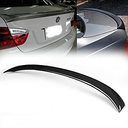Hot Sale Real Carbon Fiber Rear Boot Spoiler Wing Lip Durable For BMW E90  3-Series M3 330i 335i 328i Sedan