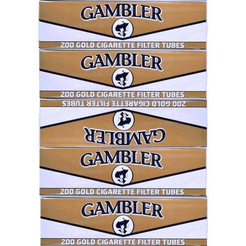 (Gambler Light King Size Cigarette Tubes 5 Boxes )