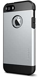 Spigen [Tough Armor] iPhone 5 5S SE Case Cover with Reinforced Kickstand and Heavy Duty Protection and Air Cushion Technology for iPhone 5 5S SE - Sat at amazon