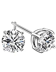 Richy-Glory - Crystal Earrings sliver plated Stud Earrings for woman