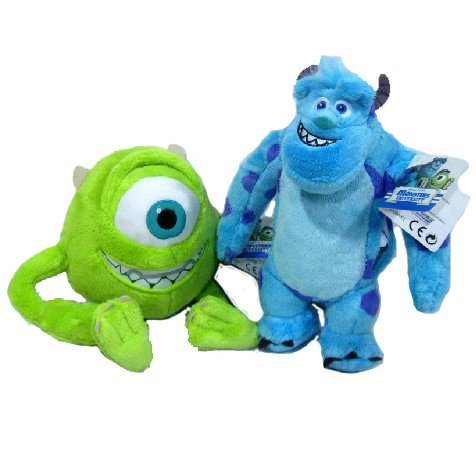 Disney Monsters Inc. University Plush Movie Doll Set Sully James P.