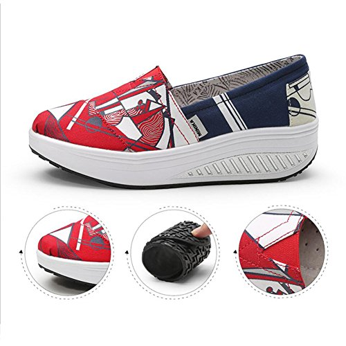 XUE B Color Shoes Athletic Shoes amp; Shoes Shoes Loafers Size Fitness Shoes Flat Slip Loafers Fall Spring Women's Shoes D Shaking Canvas Shake Platform Shake Ons Driving Sneakers 39 Shoes AFAOxrw