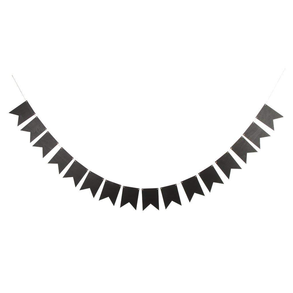 木製黒板バナー 旗 ペナント DIY 吊り下げ ガーランド デコレーション   B07PFCKLK4