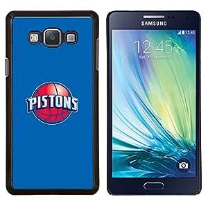 PISTONES - Baloncesto- Metal de aluminio y de plástico duro Caja del teléfono - Negro - Samsung Galaxy A7 / SM-A700