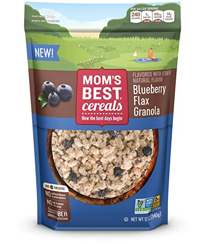 Mom's Best Blueberry Flax Granola Cereal, 12 Oz, 1Count