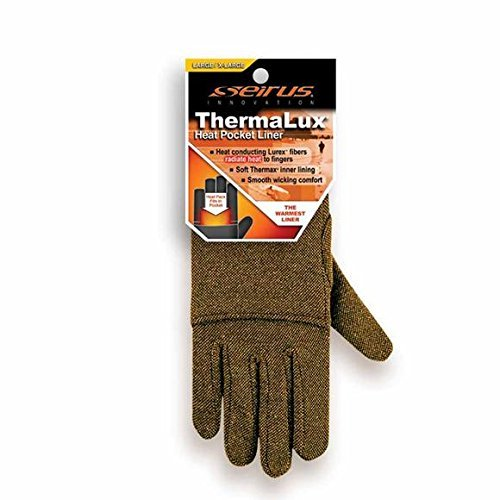 Seirus Thermalux Heat Pocket Glove Liner Black sm/md by Seirus Innovation (Heat Pocket Liner Glove Thermax)