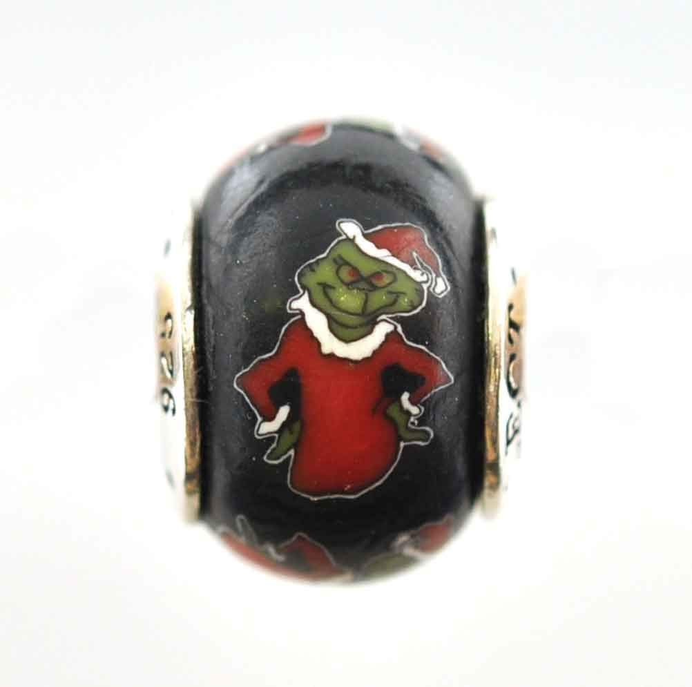 Snoopy Santa Christmas Bead Charm for Add-A-Bead Bracelets Clay /& Sterling Silver by MAYselect