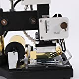 Hot Foil Stamping Machine Automatic Reeling 10 x 13 cm Tipper Stamper Machine Manual Embossing PVC Leather Bronzing Stainless Machine for PVC Cards 110V