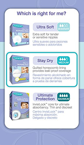 Large Product Image of Lansinoh Nursing Pads Stay Dry 60 Each ( Pack of 4 )