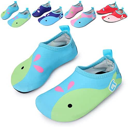 L-RUN Kid's Functional Water Shoes Barefoot for Beach Pool Surf Yoga Exercise Light Blue 6-7=EU 22-23