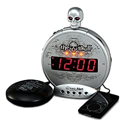 Sonic Alert Loud Alarm Clock SBS550ss, Silver and Black