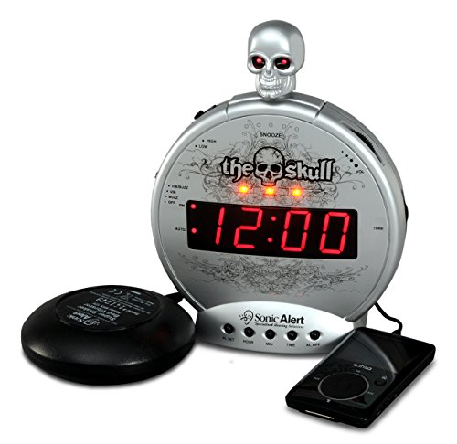 Sonic Alert Loud Alarm Clock SBS550ss, Silver and Black ()