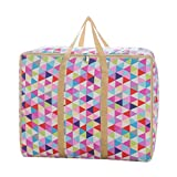Sulida Machine Washable Thick 82L Clothes/Comforters/Beddings/Pillows/Blanket Organizer Storage Bag With Strong Handles