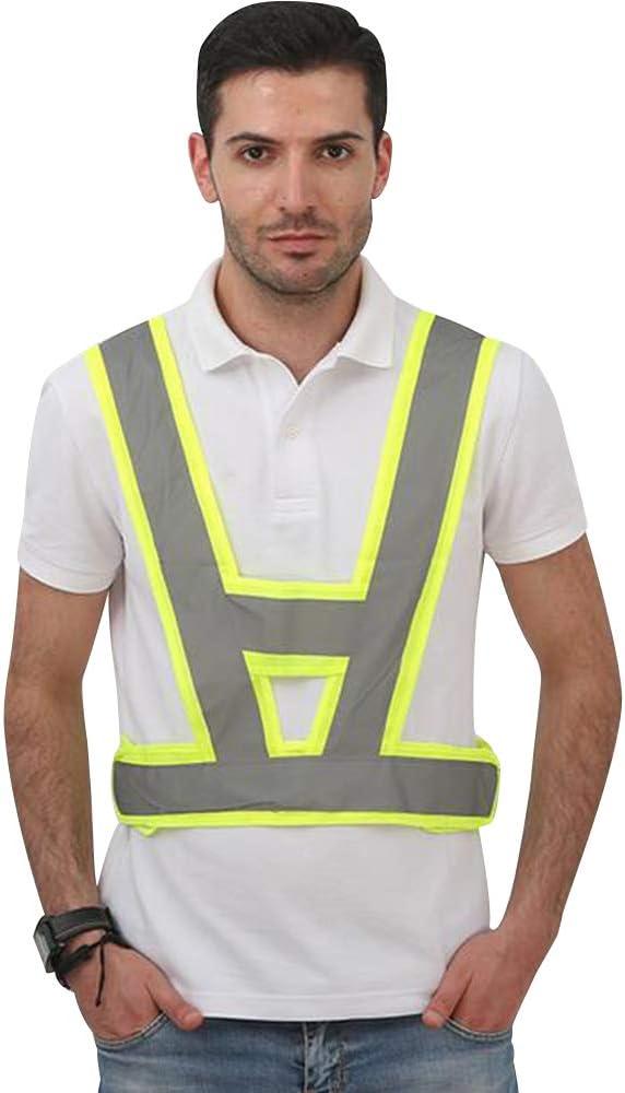 Hohe Sichtbarkeit Sicherheit Weste f/ür Joggen//Radfahren//Walking GOGO V Form Warnweste