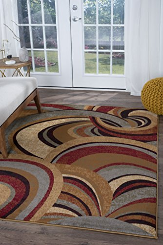 Universal Rugs Richmond Contemporary Abstract Brown Rectangle Area Rug, 5' x 8'