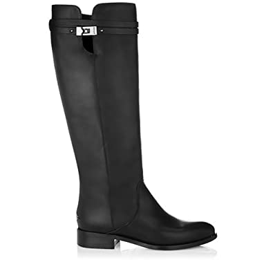 Jimmy Choo Hyson Matt Leather Women Knee High boots black