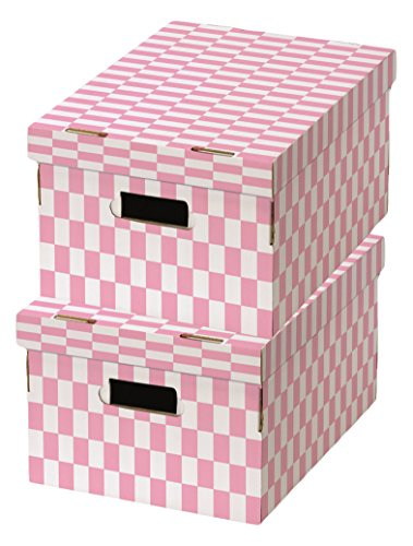 Compactor Check Cardboard Storage Boxes, 40 x 31 x 21cm, Set of 2,...