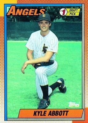 1990 Topps 444 Kyle Abbott 1 Pick California Angels Rc