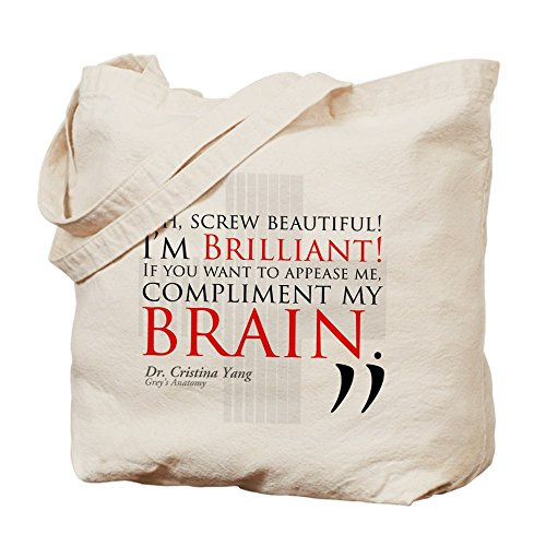 CafePress–Tornillo Beautiful. I 'm brillante.–gamuza de bolsa de lona bolsa, bolsa de la compra