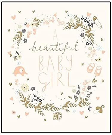 Beautiful New Baby Girl Greeting Card Peach Prosecco Range Cards