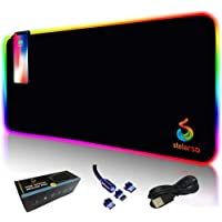 STELARSO RGB Gaming Mouse Pad - Non-Slip XXLarge Gaming Mouse Mat – LED Light Wireless Charging Extended Mouse Mat…