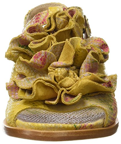 Neosens Women's S943 Fantasy Floral Yellow Aurora T-Strap Sandals Multicoloured (Floral Yellow) 9MbKw81