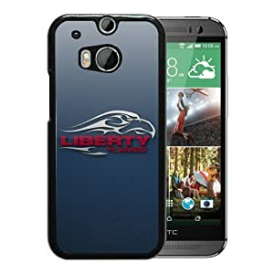 NCAA Liberty Flames 5 Black Hard Shell Phone Case For HTC ONE M8